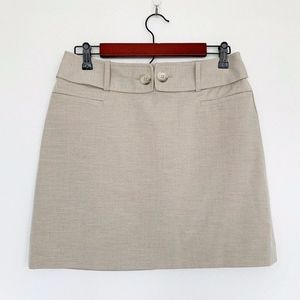 The Limited Beige Tan A Line Mini Skirt